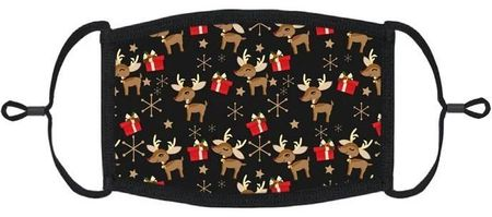 YOUTH SIZE - Reindeer Fabric Face Mask