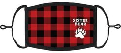 """YOUTH SIZE - """"Sister Bear"""" Fabric Face Mask"""