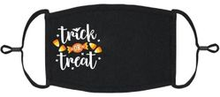 "YOUTH SIZE - ""Trick or Treat"" Fabric Face Mask"