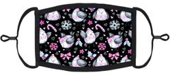 YOUTH SIZE - Winter Birds Fabric Face Mask