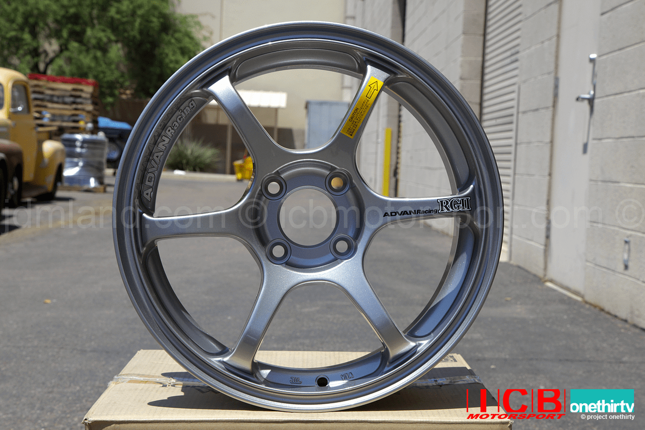 Advan RGII Wheels 15X7 4X100 +35 Offset Silver Concave Face Sold