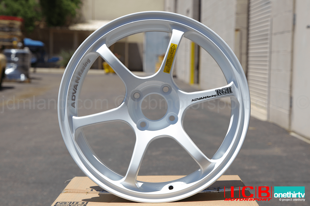 Advan RGII Wheels 16X7 4X100 +35 Offset White Concave Face Sold