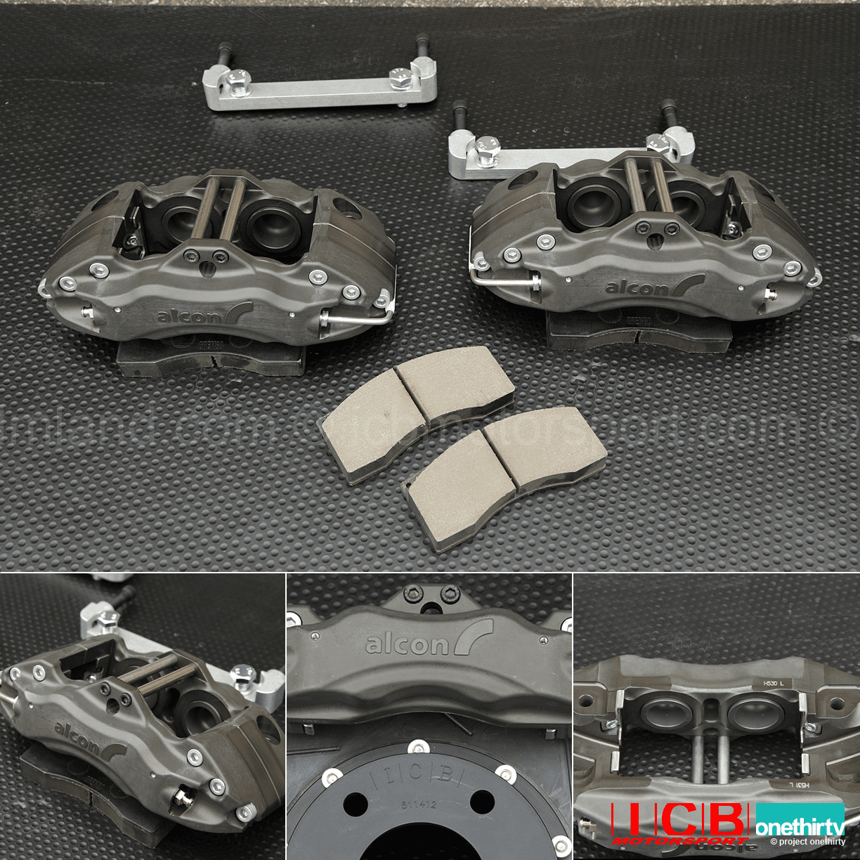 "Alcon Forged Calipers | Project Mu SCR Pro 300mm/11.8"" Rotors 