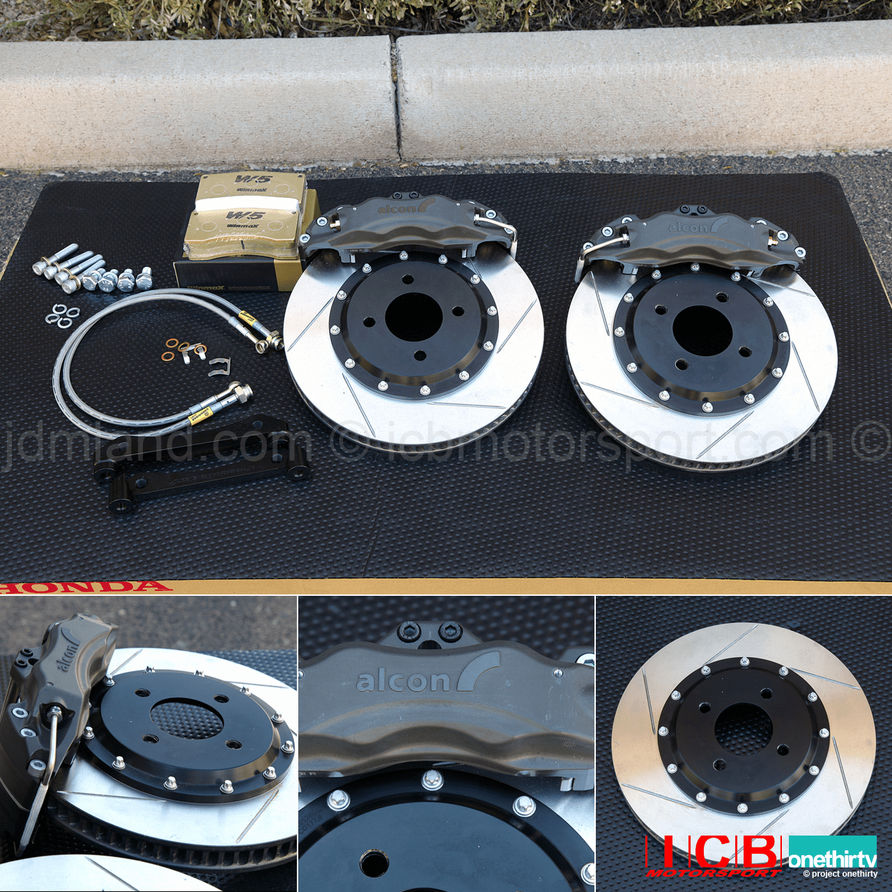 "Alcon Forged Calipers w/ 295mm/11.6"" Rotors 