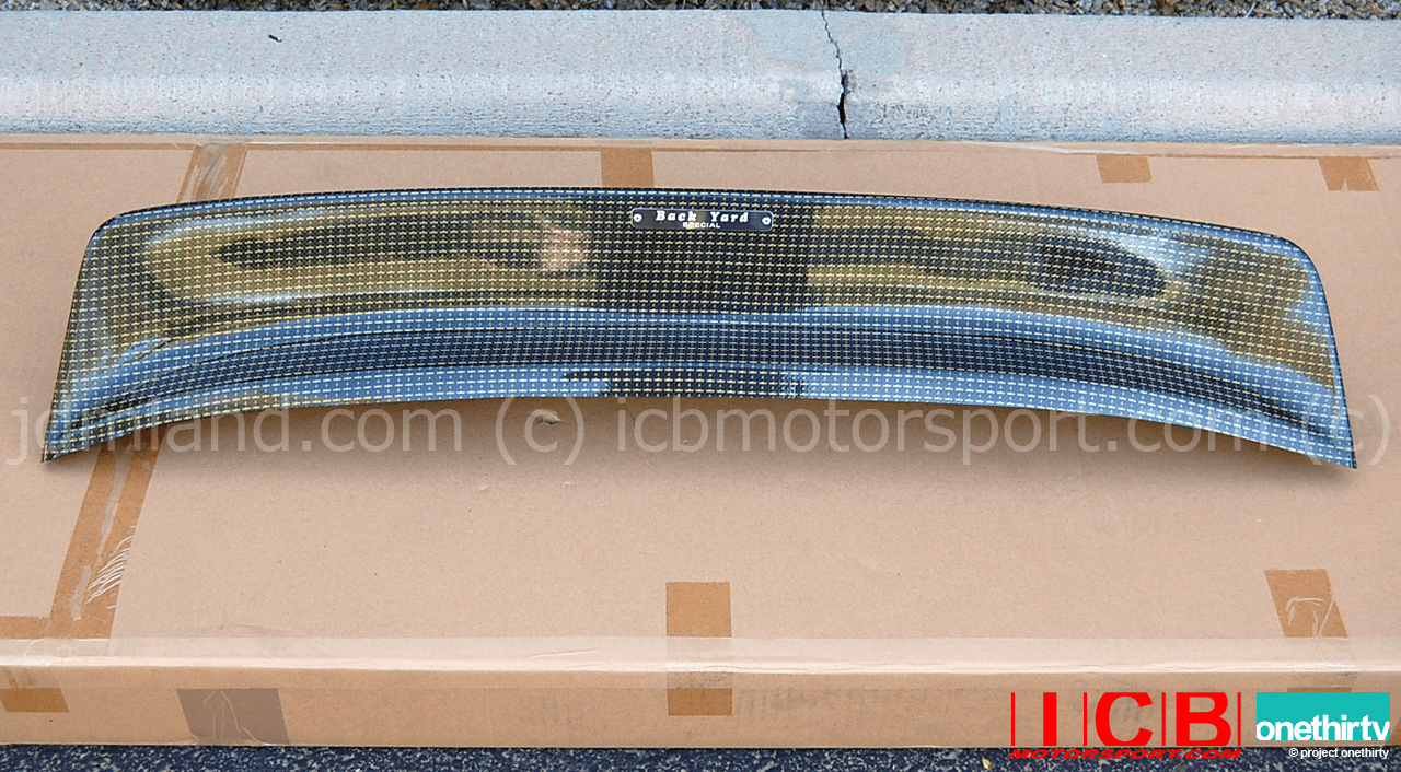 Backyard Special BYS EG6 Civic Hatchback Roof Spoiler Kevlar