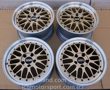 BBS LM Forged Gold 17X8 +40 Offset 17X9 +40 Offset 5X114.3  Honda S2000 NSX Sold