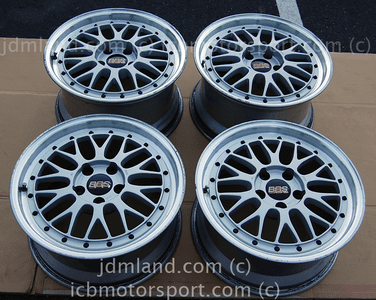 BBS LM Forged Silver 17X8 +45 Offset 17X9 +42 Offset 5X114.3  Honda S2000 NSX SOLD