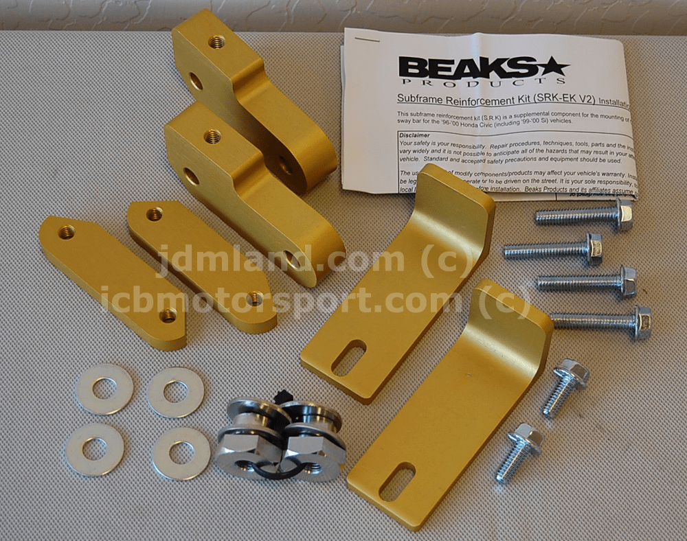 Beaks Products Subframe Reinforcement Kit EK Version 2 FREE SHIPPING