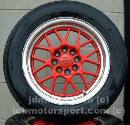 "Blitz BRW 14"" (4X100/114.3) RED VERY RARE!"