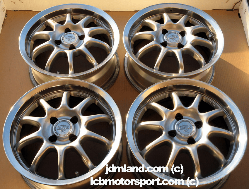 "Blitz Type 01R Silver w/ Polished lip 15"" 4X100 - SOLD"