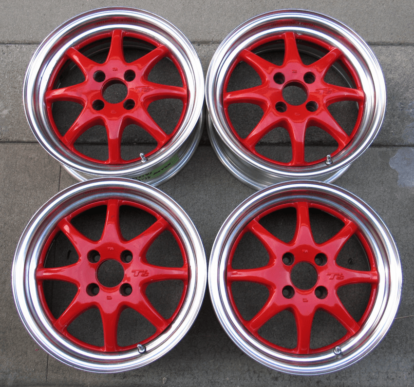BRIDGESTONE T's 15x6.5 +35 4X100 - Sold