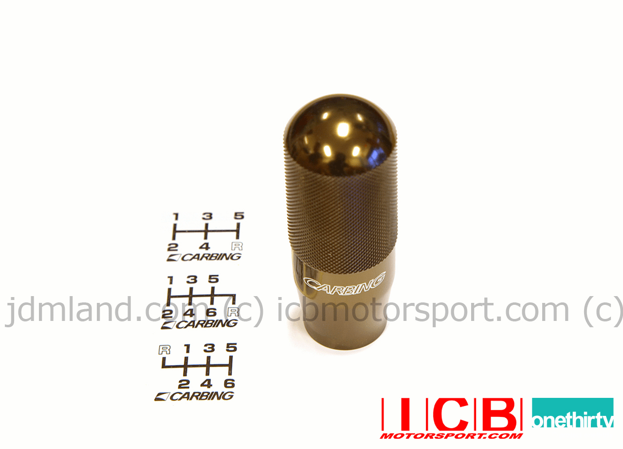 Carbing High Grip Aluminum Shift Knob M10x1.25mm Gun-Metallic Bronze Nissan Mitsubishi Mazda Isuzu
