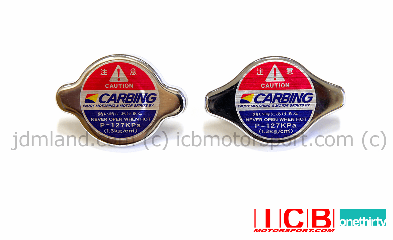Carbing High Performance Radiator Caps Type A Type B