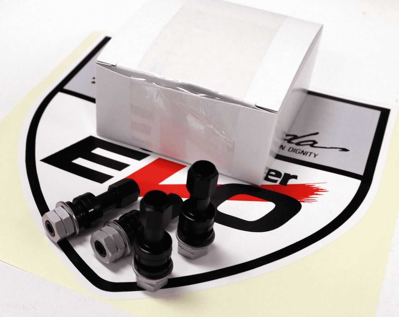 Desmond EVO and II Valve Stems Anodized Black Set  (4 Valve Stems)