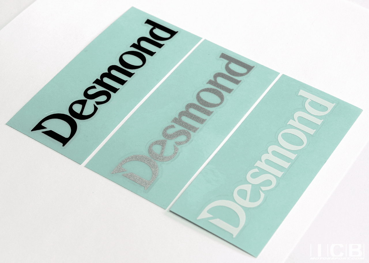 "Desmond Marquis Promoda Regamaster EVO and II ""Desmond"" Spoke Stickers 17""/18"" Set (4 Stickers)"