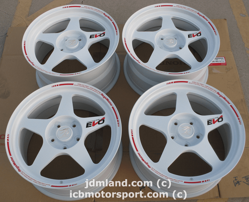Desmond Regamaster White 17X8 17X9 S2000 NSX NEW IN BOX