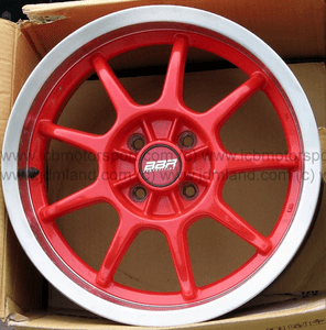 "Enkie BBR Red with Polished Lip 16"" 4X100 - SOLD"