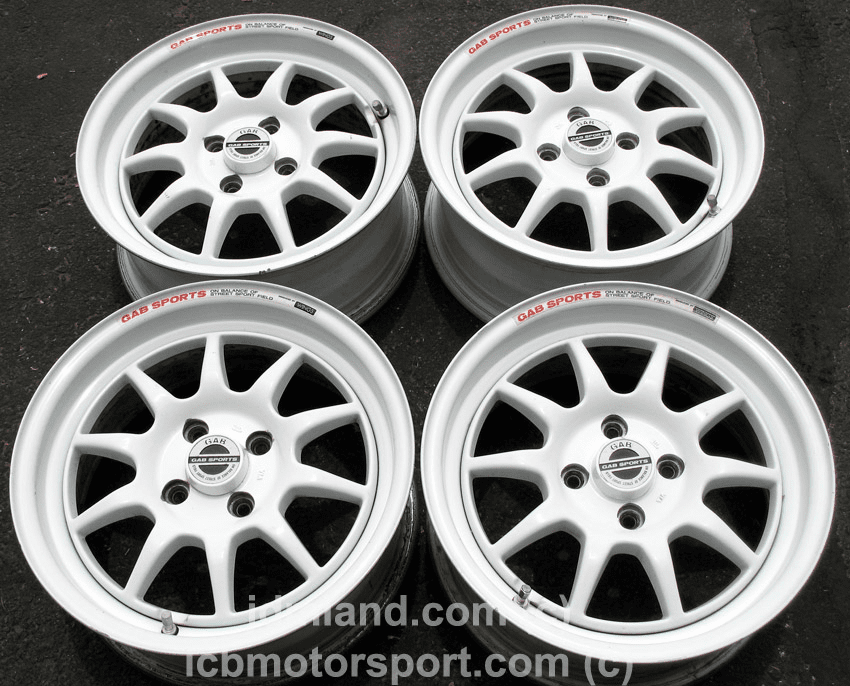 "Gab Sports 15"" 4X100 ALL WHITE - SOLD!"