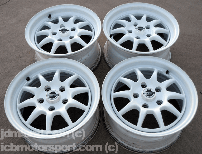 "GAB Sports All White 5X114.3 15"" Very Rare - SOLD"