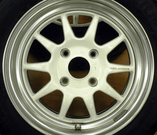 "Gab White 15"" with Polished Lip 4X114.3"
