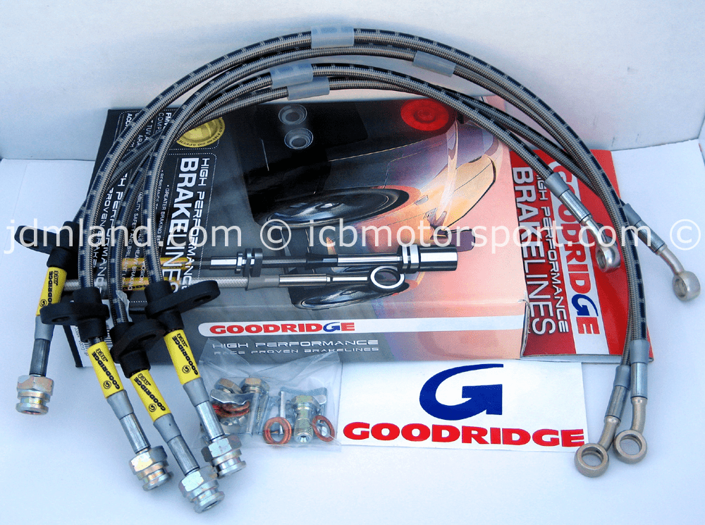Goodridge G-Stop High Performance Brakeline Kit 20018 Honda Civic 92-95 w/ ABS Del Sol 93-97 Si w/ABS