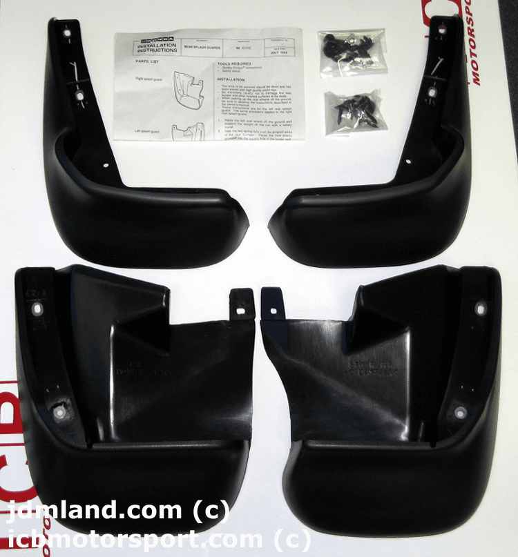 Honda Mudguard Kit Civic 99-00 EK4 Ferio Sedan EM1 Coupe