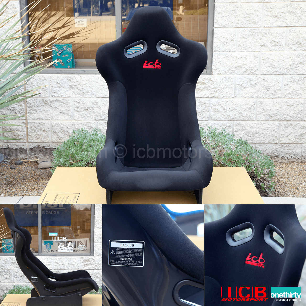 ICB Japan Pursuit MK I Full Bucket Seat FRP Back Black Fabric Pre-Order