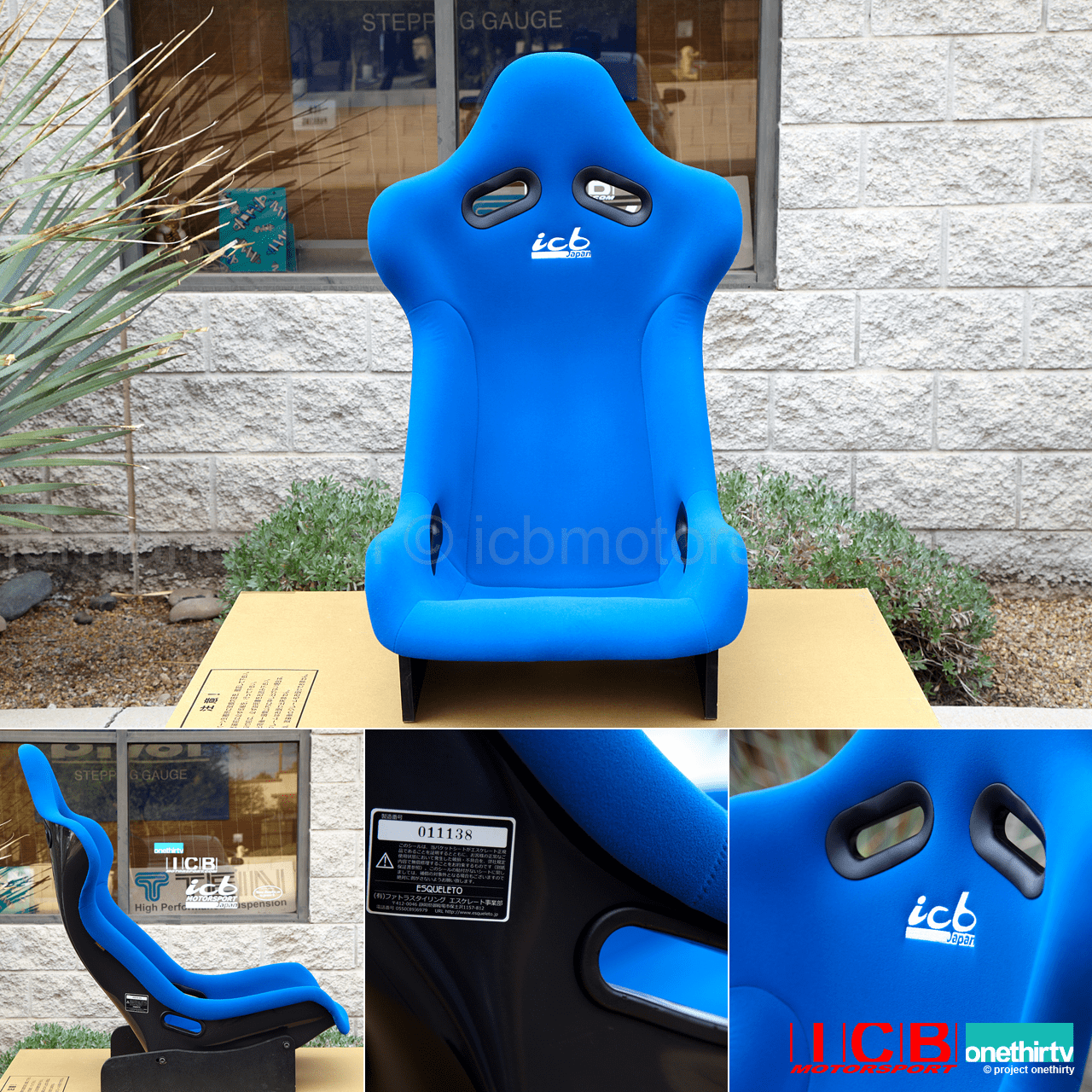 ICB Japan Pursuit MK I Full Bucket Seat FRP Back Blue Fabric Pre-Order