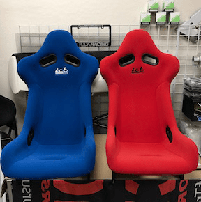 ICB Japan Pursuit MK I Full Bucket Seat FRP Back Red Fabric - In Stock
