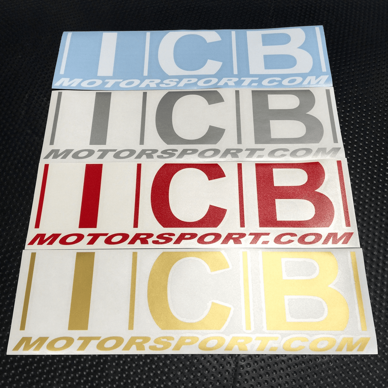 "ICB MOTORSPORT 15"" Decals Various Colors FREE SHIPPING"