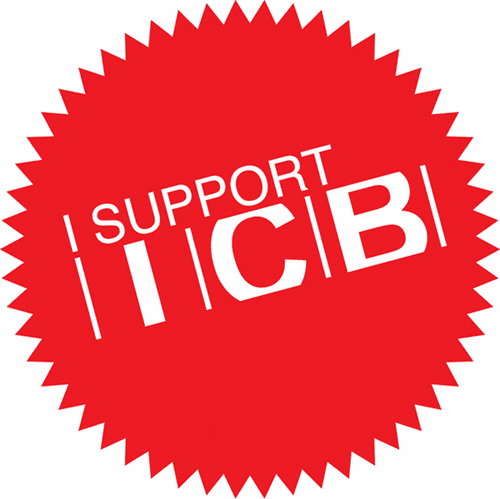 "ICB MOTORSPORT 4"" ""I Support ICB"" Sticker FREE SHIPPING"
