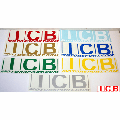 "ICB MOTORSPORT 9"" Decals Various Colors FREE SHIPPING"
