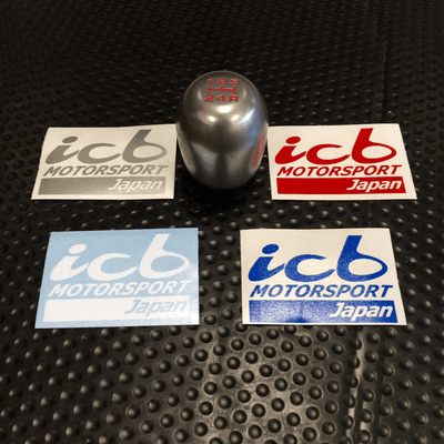 """ICB MOTORSPORT JAPAN 2.5"""" Small Decals Various Colors FREE SHIPPING"""