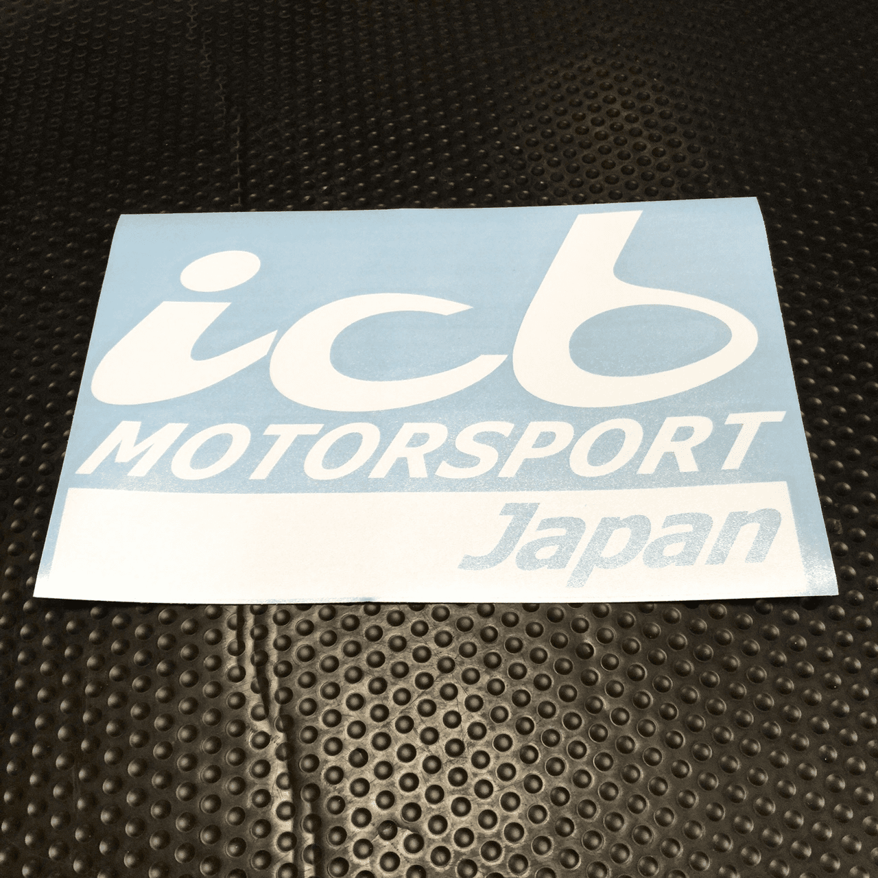 "ICB MOTORSPORT JAPAN 8.5"" Large Decal White Silver Red Blue Yellow FREE SHIPPING"