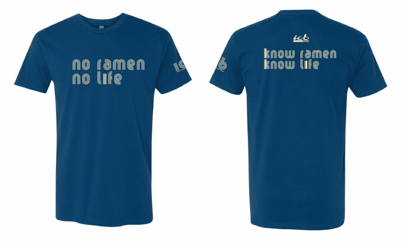 "ICB MOTORSPORT ""No Ramen No Life"" COOL BLUE T-Shirt  Free Shipping"