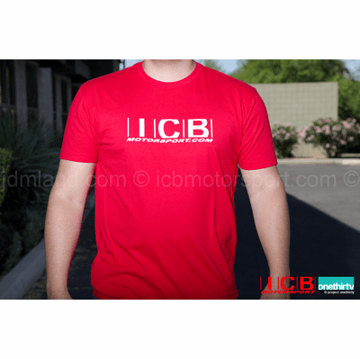 "ICB MOTORSPORT ""Purveyor of Fine Japanese Made Parts"" V2 RED T-Shirt  Free Shipping"