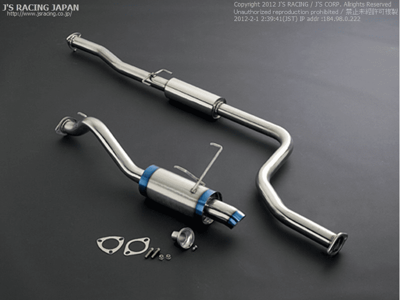 J's Racing C304 Stainless Steel Cat-Back 60RS w/ Dolphin Tip Civic EK9 Type R