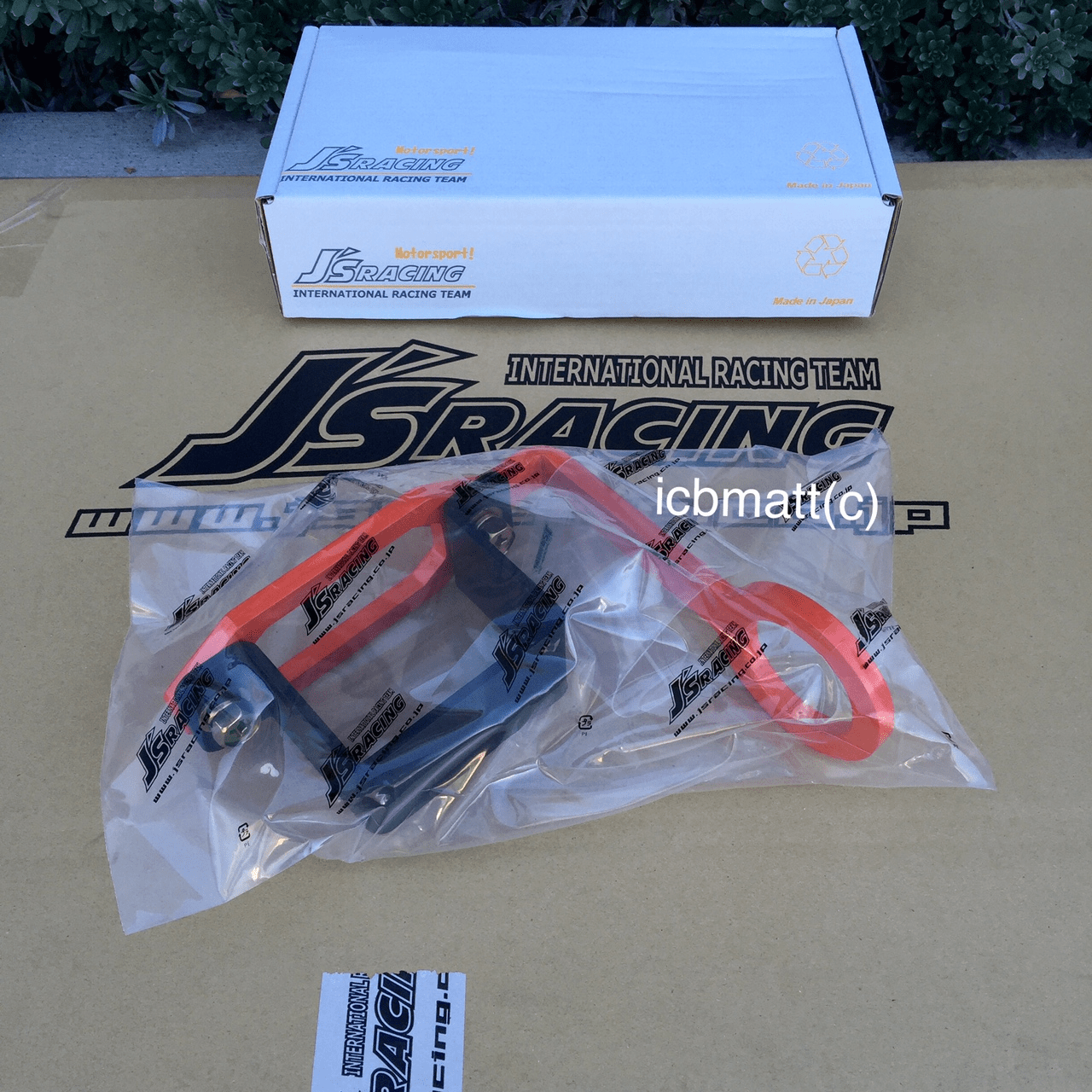 J's Racing Front Tow Hook Honda Civic EK9 96-00 Orange