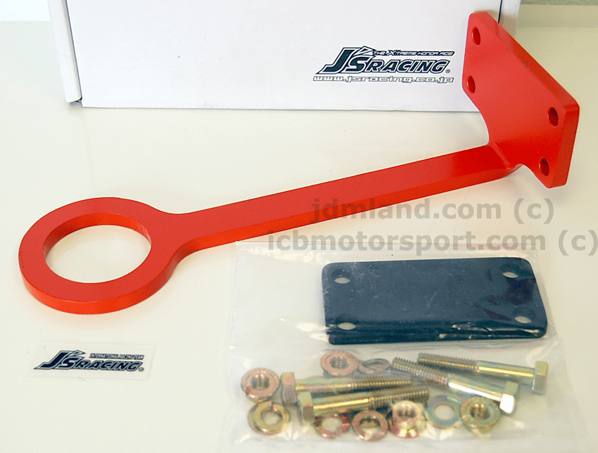 J's Racing Front Tow Hook JDM Integra DC2 DB8 Orange