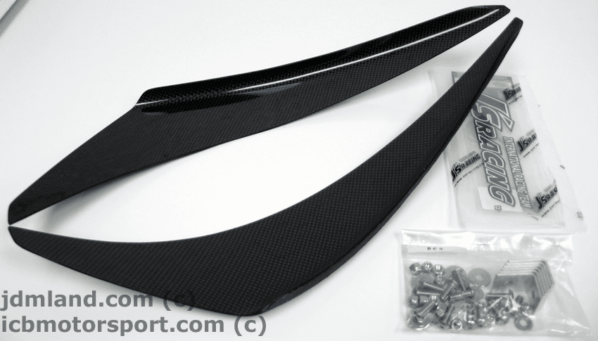 J's RACING JDM DC2 Carbon Fiber Canards Set