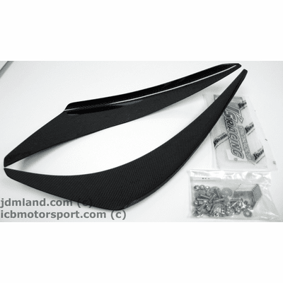 J's RACING JDM EK9 Civic 99-00 Carbon Fiber Canards Set