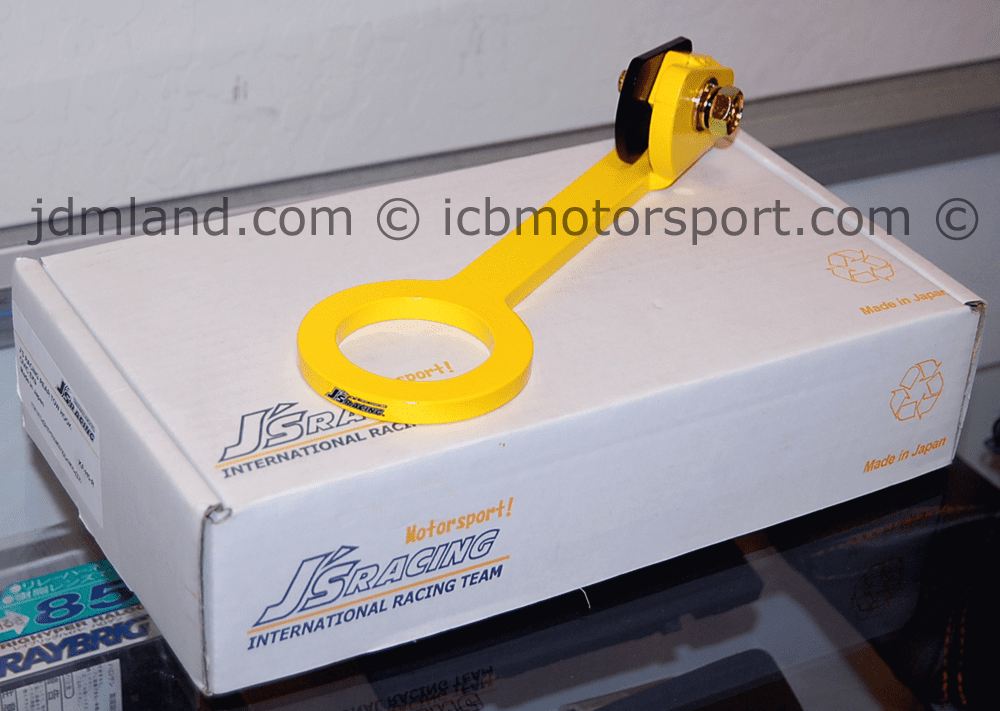 J's Racing Rear Tow Hook Honda Civic EK4 EK9 96-00 Yellow