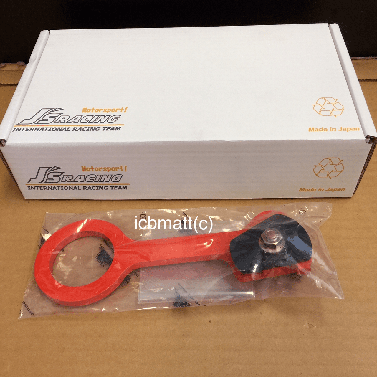 J's Racing Rear Tow Hook Honda CRZ ZF1 Orange