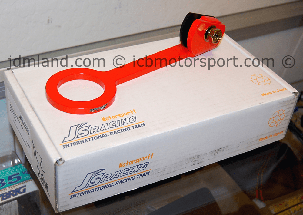 J's Racing Rear Tow Hook JDM Integra DC2 DB8 94-01 Orange