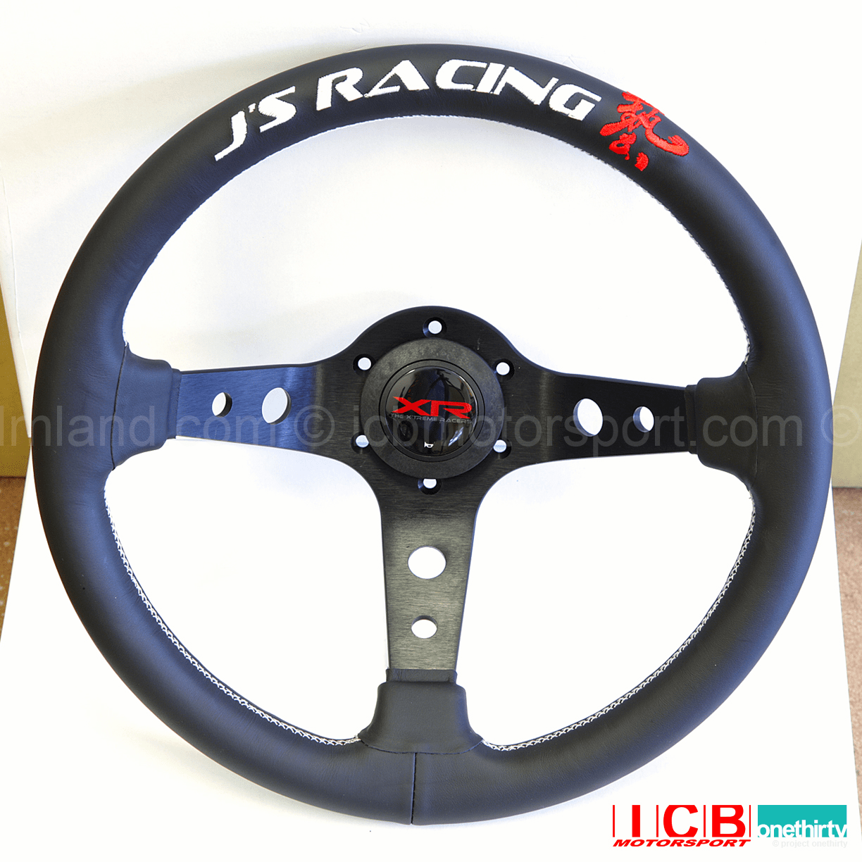 J'S RACING XR Steering Type-D Leather US version