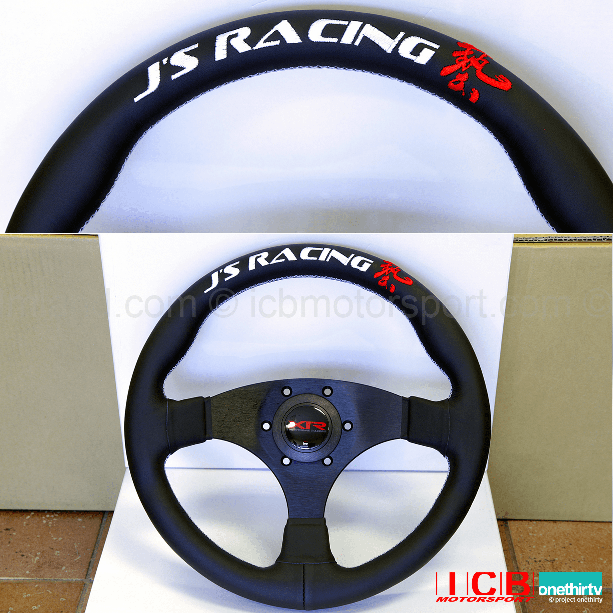 J'S RACING XR Steering Type-F Leather US version