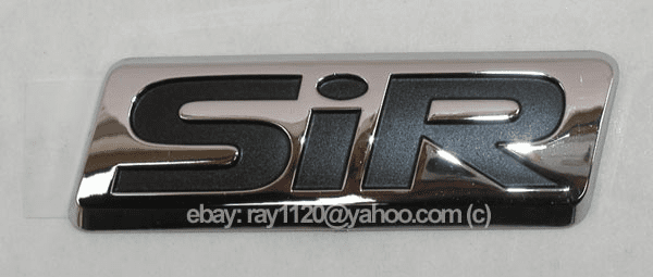 "JDM Accord ""SiR"" Chrome Emblem (Rear)"