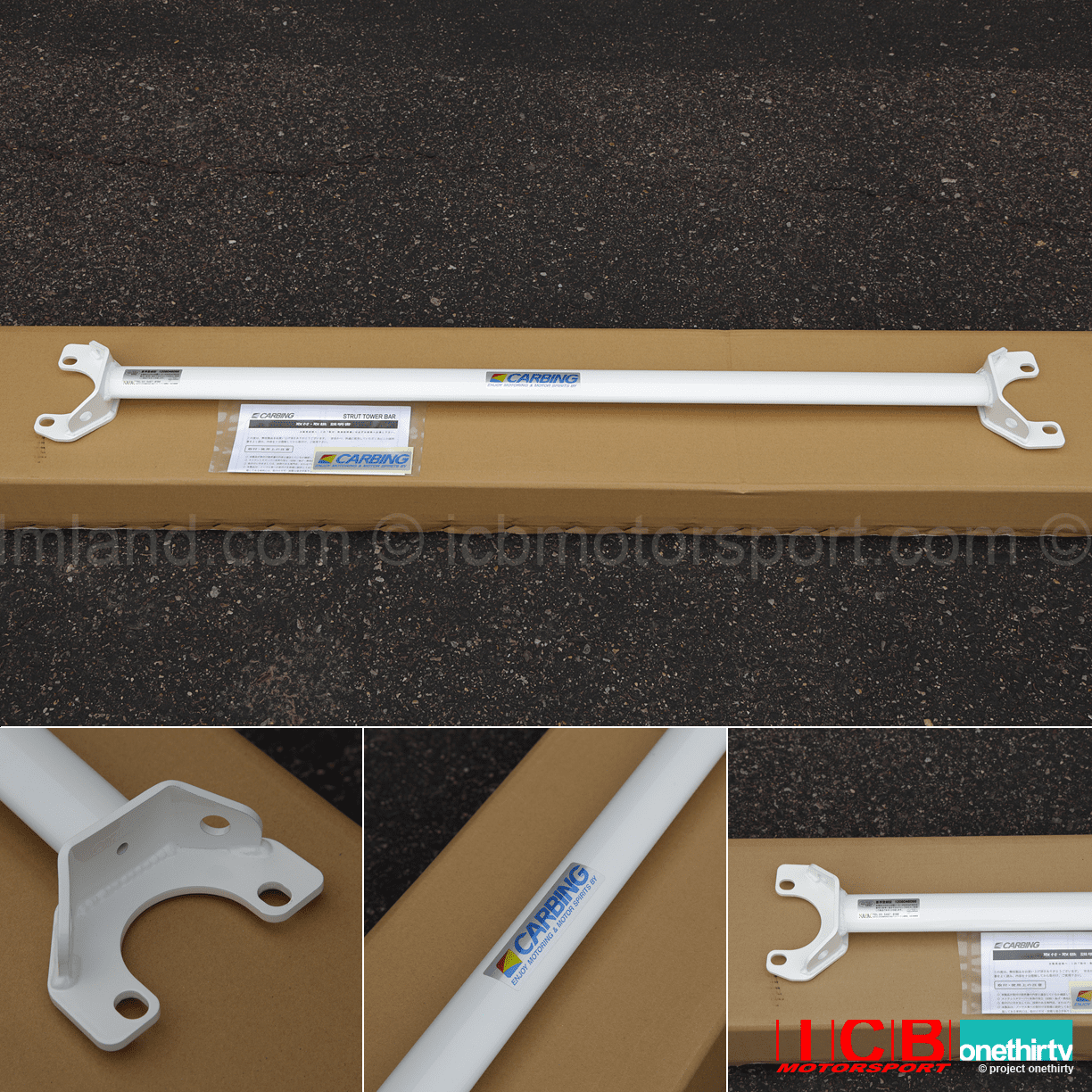 JDM Carbing Rear Strut Tower Bar White Integra DC2 Civic EK9 EG6