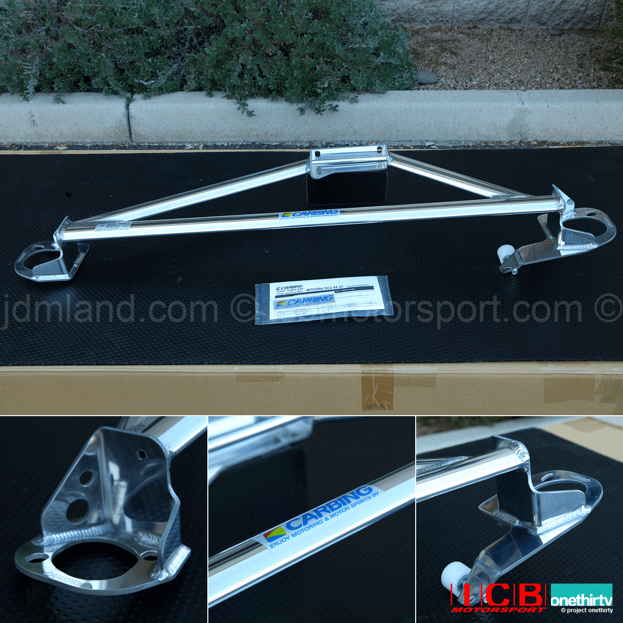 JDM Carbing Strut Tower Bar Type II With Master Cylinder Stopper MCS Acura Integra DC2 Left Hand Drive Pre-Order