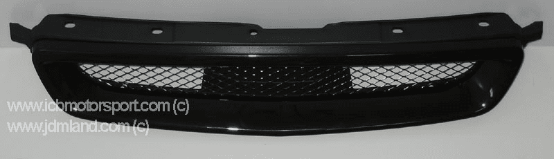 JDM Civic EK9 Type R Front Grill 96-98 NH592P Flamenco Black Pearl